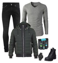 """""""Untitled #1263"""" by azra-99 on Polyvore featuring Alexander McQueen, Balmain, Timberland, FOSSIL, men's fashion and menswear"""