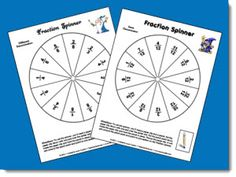 Fractions Game - Students spin the spinner 3 times and record all 3 fractions. They rearrange the fractions so that they are in order from least to greatest. If the other player agrees on the arrangement, the player scores a point. Continue playing until one person scores 10 points.