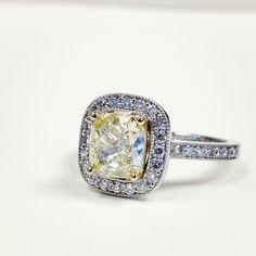 So gorgeous!! -Canary Diamond Ring