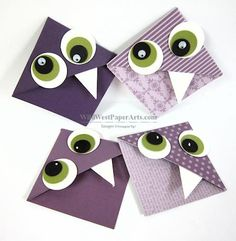 Purple Monster Bookmarks, Wild West Stampin' Scrappin' and Crafts