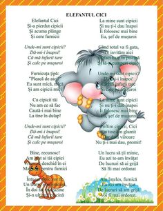 Poezii Kids Poems, School Humor, Kindergarten Worksheets, Nursery Rhymes, Kids And Parenting, Montessori, Language, Songs, Activities
