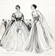 Fashion sketch, by marcel