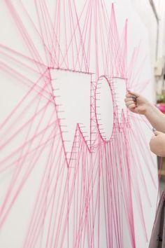 Creeer prachtige kunstwerken op de muur met spijkers en draad/garen!