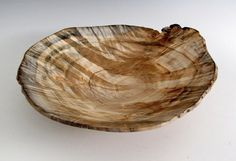 Natural Edge Maple Burl Wood Turned  Bowl or by JLWoodTurning, $95.00