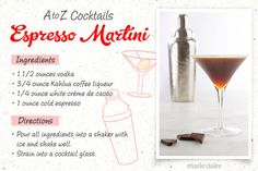 26 Easy-to-Make Drinks, A-Z Style  Follow this step-by-step guide to make the easiest drink recipes of your life! Learn how to make an Espresso Martini, which is an easy and delicious classic cocktail!