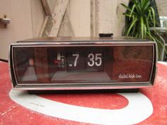 My dad used to have this clock!  You could hear when the numbers flipped!