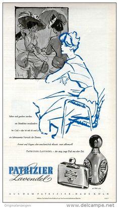 Original-Werbung/Inserat/ Anzeige 1959 - PATRIZIER LAVENDEL PARFUM  - ca. 160 x 285 mm