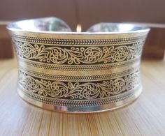 BR098 Europeo Cóncavo de Metal de Color Plata Tibetana vintage retro Cuff Brazalete Pulsera Regalo del Día de San Valentín para ella