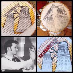 #fanart #drwho#embroidery #handmade by#mounshak.#dalek