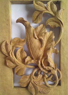 Thai Teak Wood Carving Panels X2 Teak Wood Panel Java