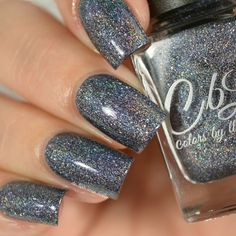 CbL The Journey Collection 2016 - Empty Heart is a blackened grey base with linear holo and linear holo flake with and copper flash.  Swatch by @delishiousnails.