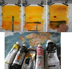 Brushes and Paints Used