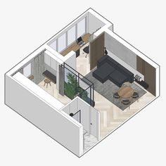 Apartment Layout, Apartment Interior, Apartment Design, Office Interior Design, Office Interiors, Isometric Drawing, Photoshop, Floor Plans, Architectural Presentation