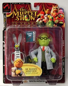 Palisades toys THE MUPPET SHOW 2002 BUNSEN HONEYDEW NEW - still factory sealed in the original package Package condition: Overall Great condition; very minor shelf wear only Figure size: 6 inches