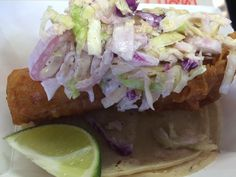 Our #Ensenada Fish #Tacos with #fresh #chipotle sauce and our #habanero coleslaw. #catering
