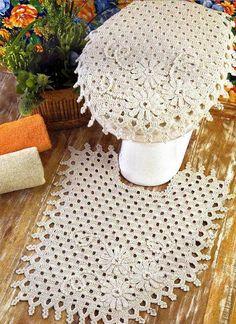 Crochê Tricô - Gráficos: Jogo para Banheiro em Crochê