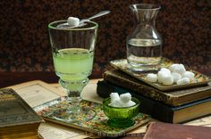 Absinthe - a recently liberated spirit with a jaded history. Food photography by Paul S. Bartholomew