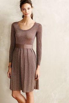 Orla Kiely Bronze Shimmer Sweaterdress  #anthrofave #anthropologie