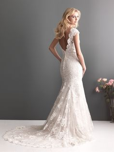 ebay lace wedding gowns | ... Lace Beading Fishtail Bridal Wedding Gowns Bride Wedding Dresses