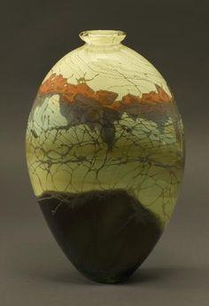 Forest Series Oval Vase - Main Glass Studio, Steven E. Main · Karen Korobow