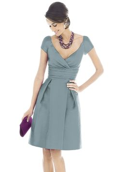 Shop Alfred Sung Bridesmaid Dress - D502 in Peau De Soie at Weddington Way. Find the perfect made-to-order bridesmaid dresses for your bridal party in your favorite color, style and fabric at Weddington Way.