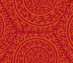 medieval_redbkg fabric by jorz on Spoonflower - custom fabric