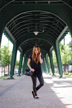 teetharejade » Blog Archive Outfit: Black Leather  a soft navy Tee » teetharejade