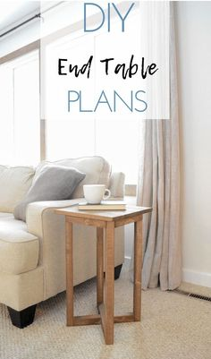 X Base DIY End Table | build this DIY end table with plans from Bitterroot DIY #endtable #livingroomideas #woodworking #woodworkingplans #sidetable
