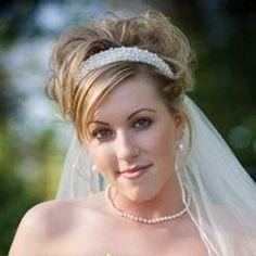 wedding hairstyles with tiara & veil