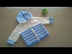 Ropón o chaqueta para bebé en crochet (Parte 1) - Tejiendo Perú - YouTube