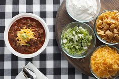 Couch-Gate Chili is perfect for an at home chili bar or tailgating with at the game!