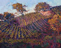 California wine country vineyards painting, inspired by Paso Robles.