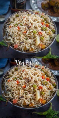 Tasty Vegetarian Recipes, Spicy Recipes, Indian Food Recipes, Easy Veg Recipes, Yogurt Recipes, Veg Pulao Recipe, Veg Biryani Recipe Indian, Cooking Dishes, Veg Dishes