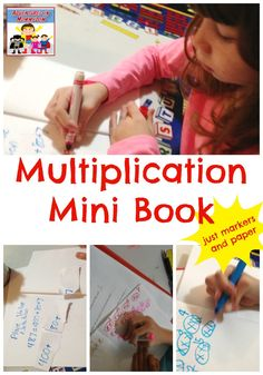 Put together this multiplication mini book to help your kids understand how to multiply and the concept behind the multiplication tables. Teaching Tips, Teaching Math, Homeschool Curriculum, Homeschooling, Happy Number, Math U See, Marker Paper, Calendar Time, Got Books