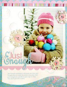 *Just Enough* Scrapbook & Cards Today Winter '08 - Scrapbook.com