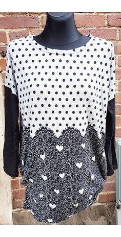 LikeLondon tröja grå med prickar o hjärtan 104e5f2b3203c