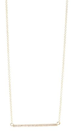 18k gold diamond stick necklace / jennifer meyer