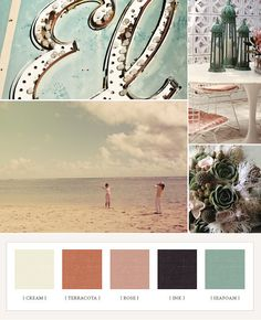 Wedding Palette perfect for beach wedding