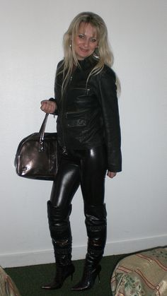 Brilliant Women In Leather Pants On Flickr Up Shirt Amp Leather Pants