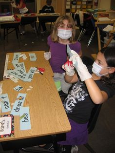 Contractions surgery. They also have CTP's Dots on Black Cards as name tags on their desks!