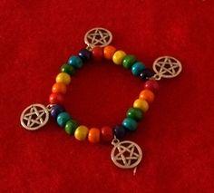 Gay Pride Pentagram Bracelet.