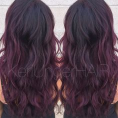 Perfectly plum //  Violet hair  Wella  KeriUngerHAIR  1-440-899-1957