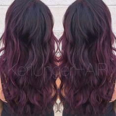 Perfectly plum //  Violet hair  Wella  KeriUngerHAIR  1-440-899-1957
