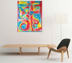 "Mixed Media  Abstract Painting  by AbundantArtsVintage on Etsy ""Fiesta"""