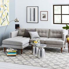 Peggy Mid-Century Chaise Sectional | west elm