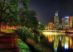 Yarra River and the CBD, Melbourne - AUSTRALIA