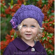 Jessica Rose Hand Knits by Linda Whaley. This pretty textured lace slouchy hat is knitted with Debbie Bliss Donegal Luxury Aran Tweed. Instructions to knit this hat in sizes from 3 months right through to Adult.... so we can all enjoy wearing this very special hat! NOTE: This knitting pattern has separate detailed instructions for each size to ensure it is extremely easy to follow. As this pattern is longer than standard patterns, just print out the size you are knitting along with the…