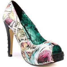 shark comic heels