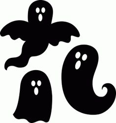 Silhouette Design Store - View Design #97473: 3 halloween ghosts