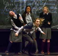 Elizabeth Teeter, Ashlei Sharpe Chestnut, Saoirse Ronan and Erin Wilhelmi in The Crucible. Broadway. 2016